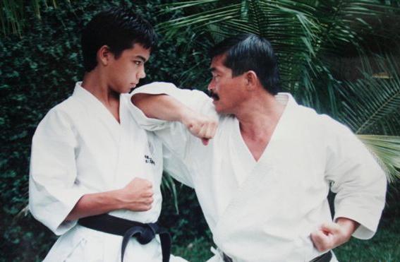 Lyoto machida and his dad