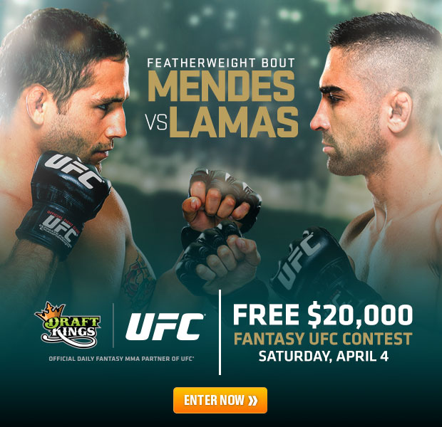 UFC Mendes vs Lamas Draft Picks