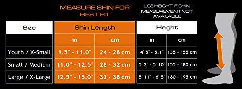 meister shin guard size chart