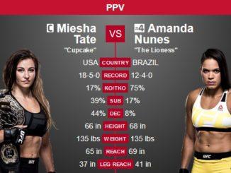 UFC 200 Tate vs Nunes
